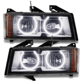 2004-2012 Chevrolet Colorado Pre-Assembled Headlights - BLACK