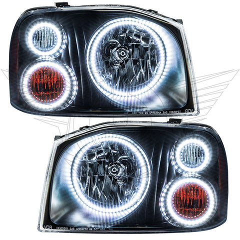 2001-2004 Nissan Frontier Pre-Assembled Headlights-Triple Halos