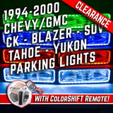 1994-2000 Chevrolet C10/Sub/Tahoe Parking Lights ORACLE ColorSHIFT Halos + RGB Controller