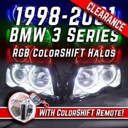 1998-2001 BMW 3 Series E46 4DR Headlights RGB ColorSHIFT Halo Kit + Remote