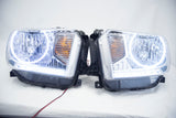 2014-17 Toyota Tundra Headlights - ORACLE White LED Halos + LED Strip Pre-Installed