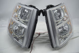 2007-2013 Chevrolet Silverado Headlights - ORACLE White LED Round Halos - Clearance