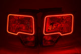 2009-14 Ford F-150 Headlights w/ ORACLE RGB ColorSHIFT Halo Kit + 1.0 ColorSHIFT Remote