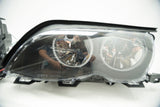 2002-2005 BMW E46 3 Series Headlights - RGB ColorSHIFT Halos + 1.0 Controller