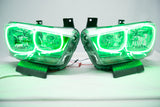 2011-2014 Dodge Charger Headlights - ORACLE Green LED Halo Kit Pre-Installed