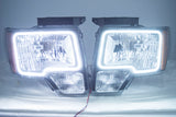 2009-2014 Ford F-150 Headlights with ORACLE White LED SMD Halo Kit