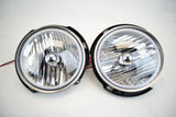 2007-16 Jeep Wrangler Headlights ORACLE with Ultraviolet Purple SMD Halos Installed