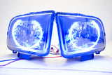 2005-2009 Ford Mustang Headlights - ORACLE SMD Blue LED Halo Kit Pre-Installed
