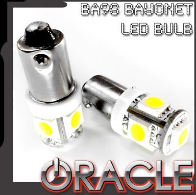 ORACLE BA9S 5 LED 3 Chip Bayonet Bulbs (Pair)