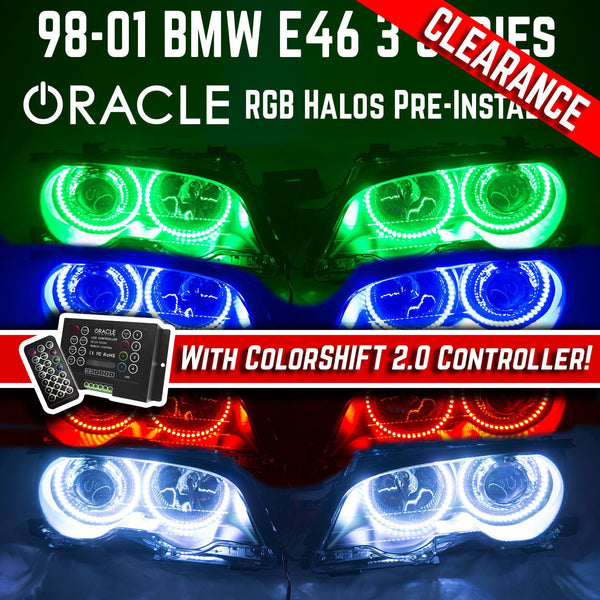 1998-2001 BMW 3 Series HID Headlights - ORACLE RGB ColorSHIFT Halos with 2.0 RGB Controller