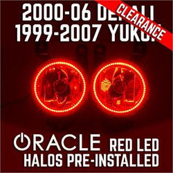 1999-2007 GMC Yukon/Denali Fog Lights - Red SMD Halos Pre-Installed - CLEARANCE