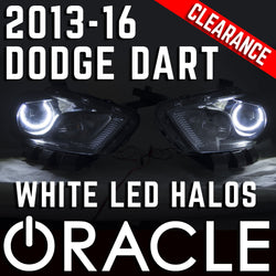 2013-2016 Dodge Dart HID Headlights - ORACLE White LED Halo Kit Pre-Installed