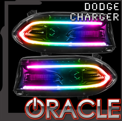 2015-2018 Dodge Charger ORACLE ColorSHIFT RGB+W DRL Headlight Conversion Kit