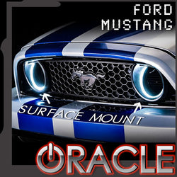 2010-2013 Ford Mustang ORACLE Waterproof Fog Halo Kit (Grill Style)