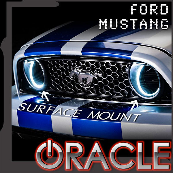 2013-2014 Ford Mustang ORACLE Waterproof Fog Halo Kit (Grill Style)