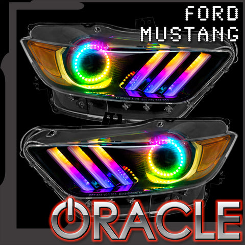 2015-2017 Ford Mustang V6/GT/Shelby ORACLE Dynamic ColorSHIFT DRL + Halo Kit
