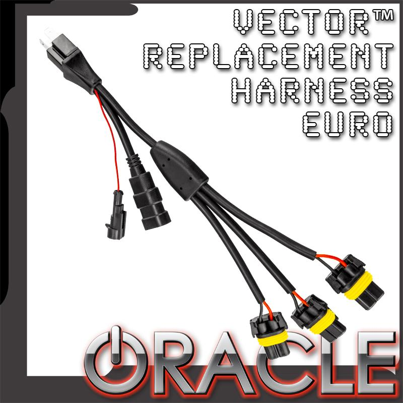 ORACLE Vector™ Replacement Headlight Wiring Harness (Pair) - Euro on bucket truck harness, heavy duty headlight harness, headlight bracket, headlight relay harness, headlight connectors,
