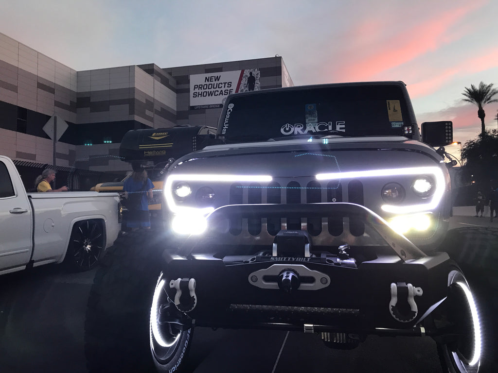 Oracle lighting vector™ series full led grill jeep wrangler jk