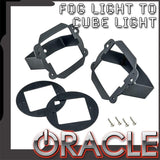 ORACLE Jeep JK Fog Light to Cube Light Conversion Mount Brackets (Pair) w/ Bezel
