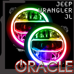 Jeep Wrangler JL ORACLE ColorSHIFT RGB+W Headlight DRL Upgrade