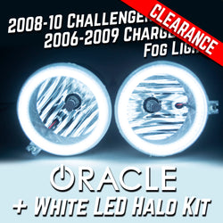 2008-10 Dodge Challenger Fog Lights - ORACLE White LED Halo Kit