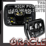 "ORACLE 7""x6"" 42W Replacement LED Headlight - Black (Pair)"