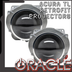 "ORACLE Acura TL 2.5"" D2S Retrofit Projectors (Pair)"