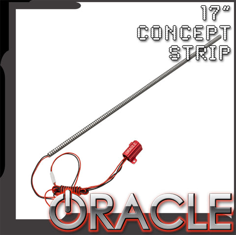 "ORACLE 17"" Waterproof Red ""Concept"" LED Strip - Single"