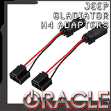 "ORACLE 2020 Jeep Gladiator ""Plug & Play"" H4 Headlight Wiring Adapter (Pair)"