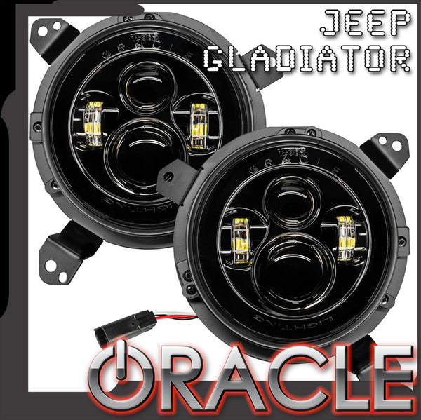 "ORACLE Jeep Gladiator 7"" High Powered LED Headlights (Pair)"
