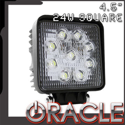 "ORACLE Off-Road 4.5"" 24W LED Square Flood"
