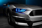 2018-2021 Ford Mustang ORACLE Dynamic ColorSHIFT Headlight DRL Halo Kit w/ Sequential Turn Signal