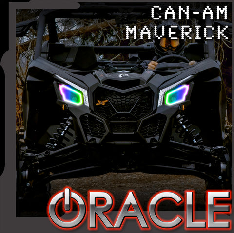 2017-2020 Can-Am Maverick X3 ORACLE Dynamic RGBW Headlight Halo Kit