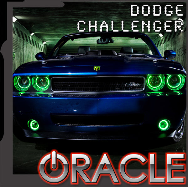 ORACLE Lighting 2008-2014 Dodge Challenger Headlight Halo Kit - Standard Mount
