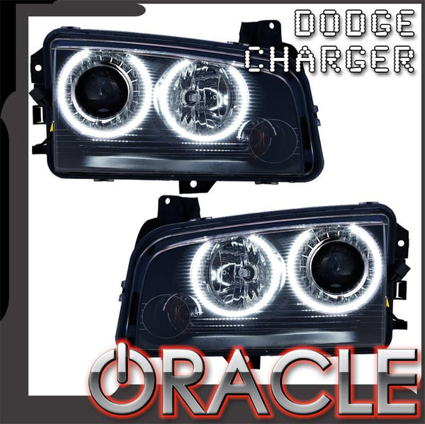 2008-2010 Dodge Charger Pre-Assembled Headlights - HID