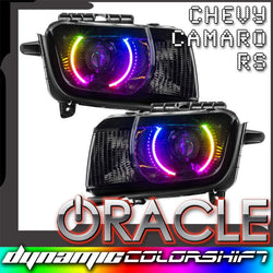 2010-2013 Chevrolet Camaro RS Pre-Assembled Headlights - Dynamic ColorSHIFT