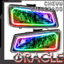 2003-2006 Chevy Silverado 1500/2500/3500 Pre-Assembled Headlights-ColorSHIFT