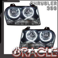 2005-2010 Chrysler 300 Base V6 Pre-Assembled Headlights - Non HID - Chrome