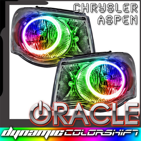 2007-2009 Chrysler Aspen Pre-Assembled Headlights - Dynamic ColorSHIFT