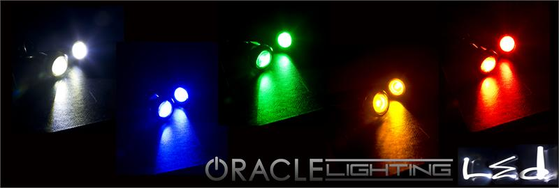 3w universal cree led billet bolt lights pair oracle lighting