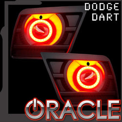2013+ Dodge Dart ORACLE LED Projector Fog Halo Kit-Waterproof