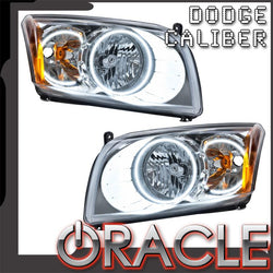 2007-2012 Dodge Caliber Pre-Assembled Headlights - Chrome