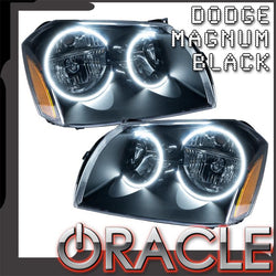 2005-2007 Dodge Magnum Pre-Assembled Headlights - Black