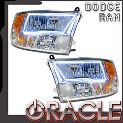 2009-2017 Dodge Ram Sport Pre-Assembled Headlights - Chrome