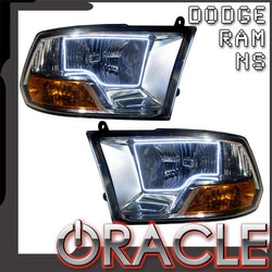 2009-2012 Dodge Ram Non-Sport Pre-Assembled Headlights - Chrome