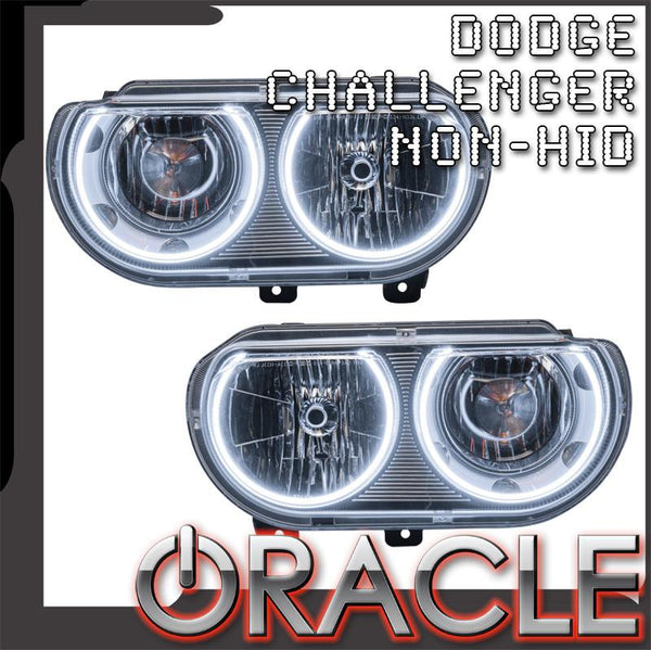 2008-2014 Dodge Challenger Pre-Assembled Headlights - Non HID - Chrome