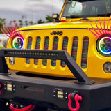 "ORACLE 7"" High Powered LED Headlights (Pair) - Black Bezel - Dynamic ColorSHIFT -Jeep Wrangler"