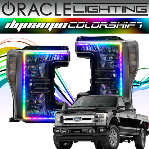 2017-2019 Ford F250/F350 Superduty ORACLE Dynamic ColorSHIFT Headlight DRL