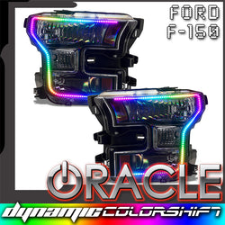2015-2017 Ford F-150 ORACLE Dynamic ColorSHIFT Pre-Assembled Headlights - Black Edition
