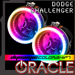 ORACLE Lighting 2008-2014 Dodge Challenger Dynamic ColorSHIFT® Fog Light Halo Kit